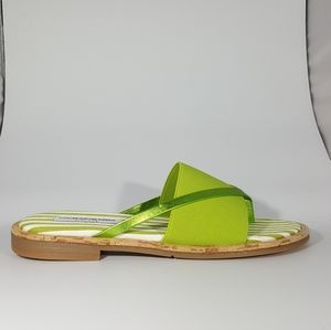NR Rapisardi Green Thong Sandal with Elastic Band